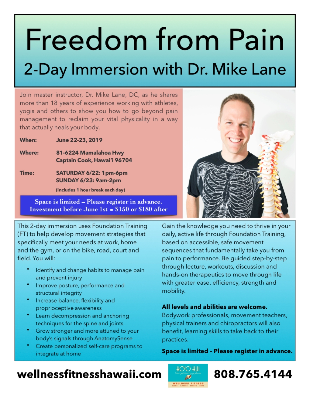 Freedom from Pain with Dr. Mike Lane June 2019